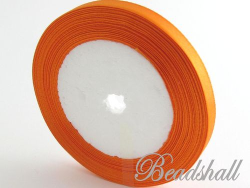 1 Rolle Satinband Orange 10 mm