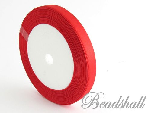 1 Rolle Satinband Rot 10 mm