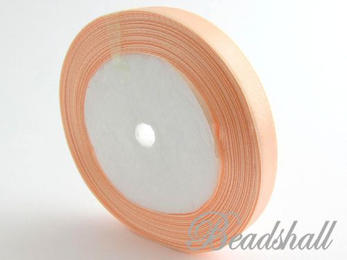 1 Rolle Satinband Apricot 10 mm