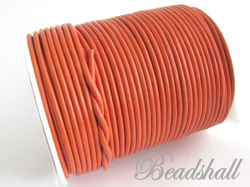 2 Meter Ziegenlederband 2 mm Orange