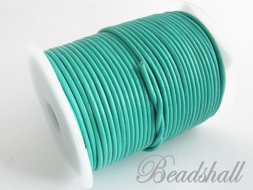 2 Meter Ziegenlederband 2 mm Mint