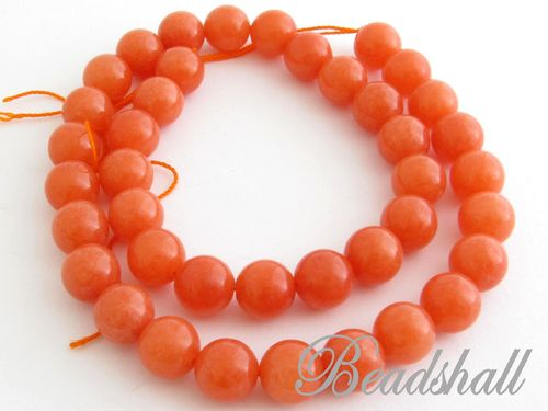Jade 10 mm rund Orange
