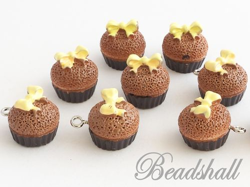 2 Charms Cupcakes Muffins Gelbe Schleife