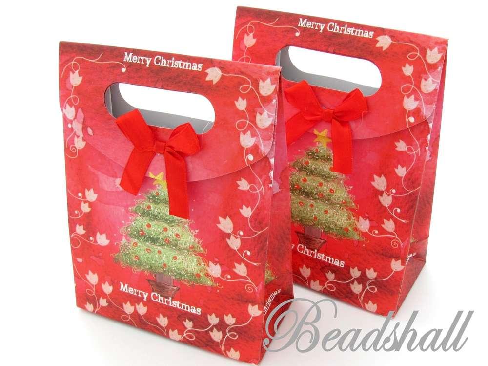 2 Geschenktaschen Tragetaschen Weihnachten