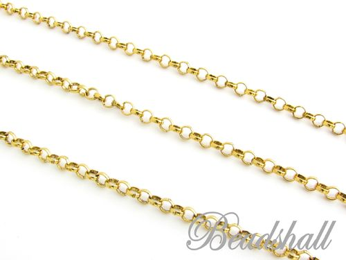 1 Meter Jasseronkette 4 mm Farbe Altgold